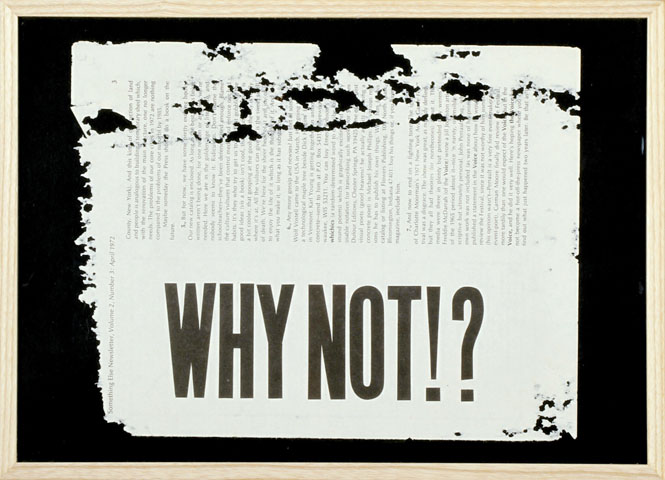 why not? (all in flux), 2008